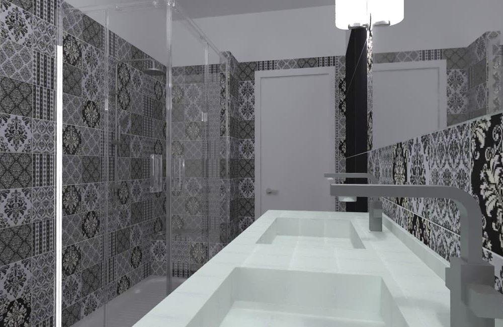 Black and white - stanza da bagno